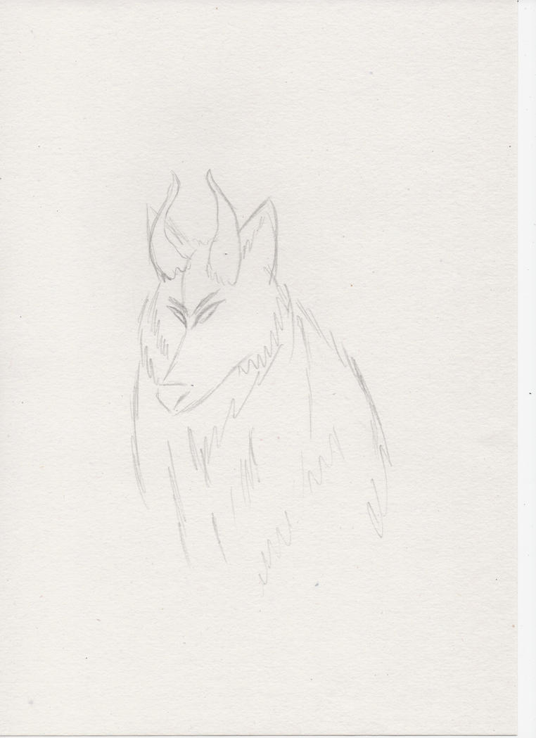 Wolf with horns 5 by miawell1990