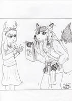 Jack Sparrow as fox - For Olsikowa by miawell1990