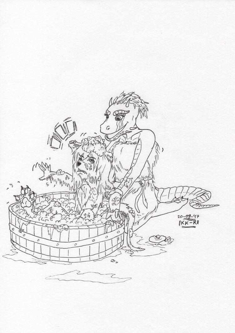 Lizoria and Gofer by miawell1990