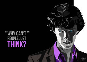 Sherlock BBC - WPAP Portrait by Mina-Burtonesque