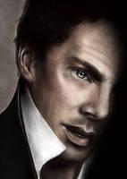 Digital Painting - Tribute to Benedict Cumberbatch by Mina-Burtonesque