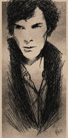 Benedict Cumberbatch - Doodle Portrait Art by Mina-Burtonesque