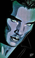 Benedict Cumberbatch - Vector Line Art Portrait by Mina-Burtonesque