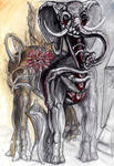 Jurgend Kray Elephant by ArachnaFonFenris