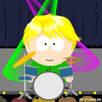 Charley with a drum kit