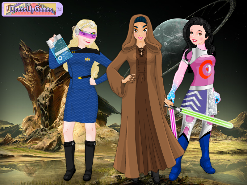 Elsa, Jasmine and Snow White by Racesgirl2000-1