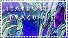 Stardust Dragon Stamp by KuroKarasu