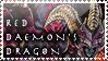 Red Daemon Dragon Stamp by KuroKarasu
