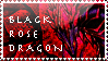 Black Rose Dragon Stamp by KuroKarasu
