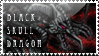 Black Skull Dragon Stamp by KuroKarasu
