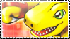 Agumon Alpha Evolve Stamp by TheLastHetaira