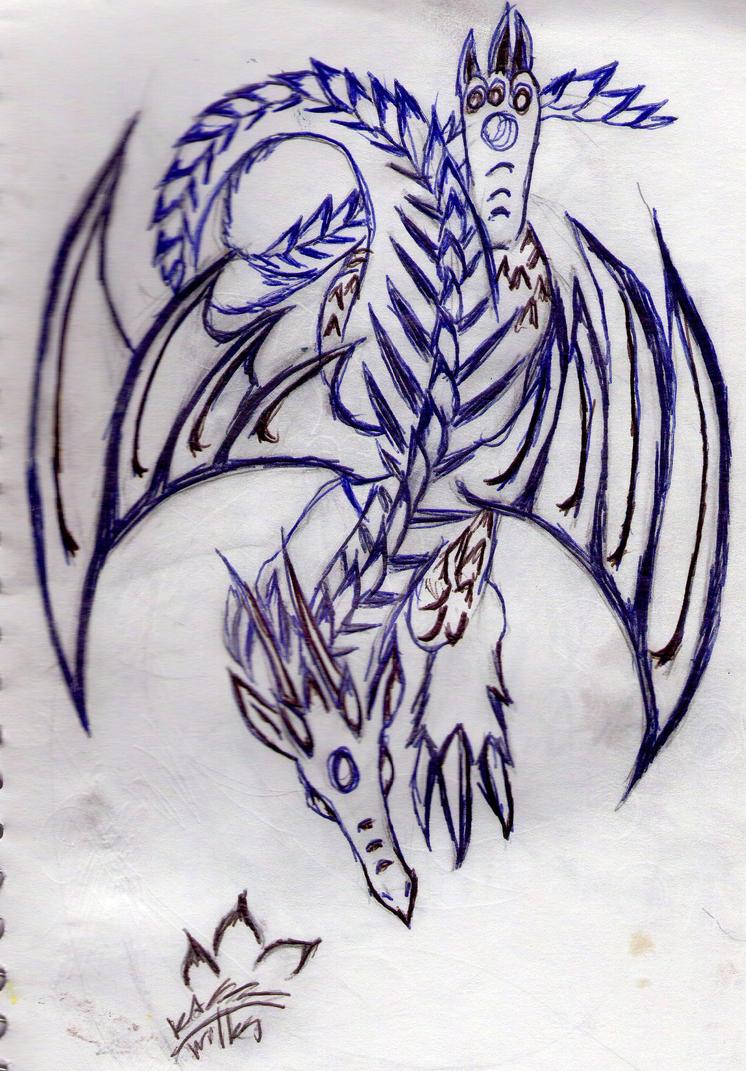 Lizard Mountain- Dragon design. by KuroKarasu