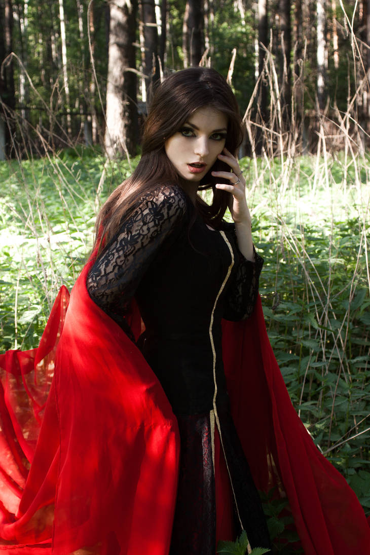 Fantasy 'Black-Red Lady'1 by LetzteSchatten-stock