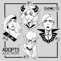 OPEN | CHARACTER HEADSHOTS ADOPTS [1/4] by bermondt