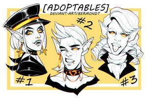 OPEN | CHARACTER HEADSHOTS ADOPTS #5 by bermondt
