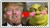 Donald Trump X Shrek stamp by Diawaterfalls