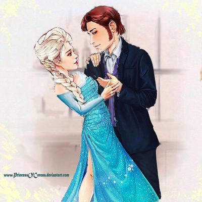 Modern Times: Hans and Elsa by PrincessOfCorona