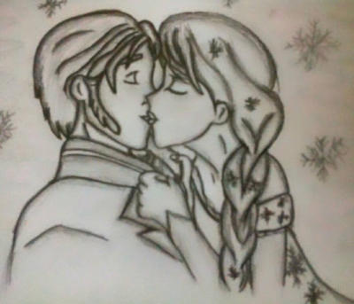 Frozen kiss : Hans and Elsa by PrincessOfCorona