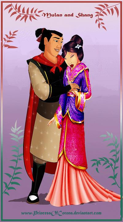 Mulan and Shang by PrincessOfCorona