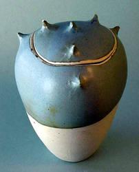 Blue Grey Spike Jar by sbleecker