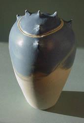 Blue Grey Spike Jar 3