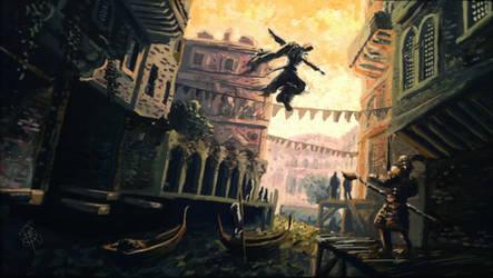 Assassin's Creed Scene by iancjw
