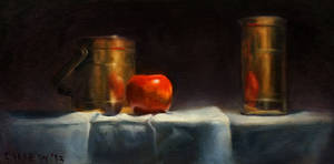 Bronze Apple Still Life