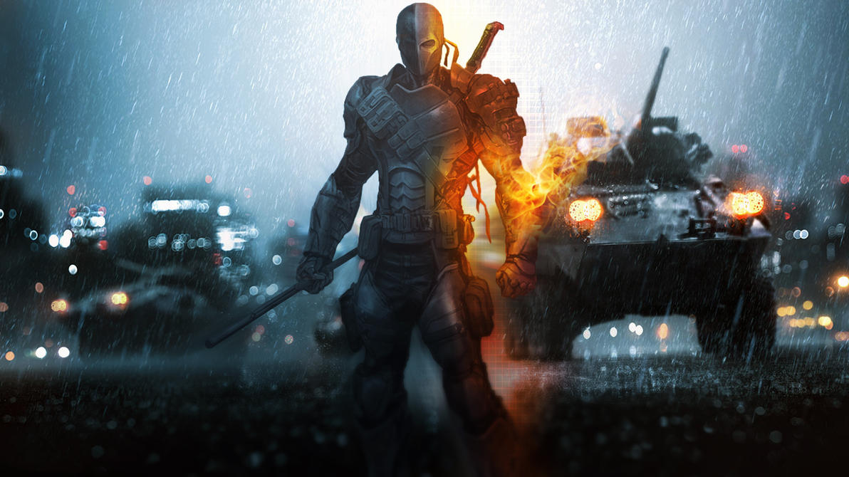 Deathstroke Battlefield Mash Up Wallpaper