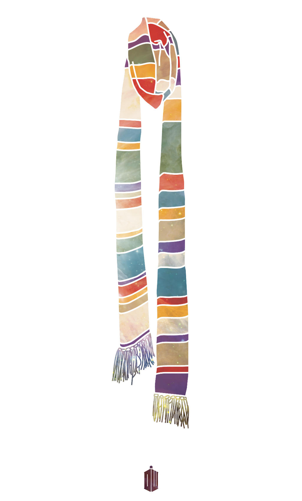 Scarf: Doctor Who Poster