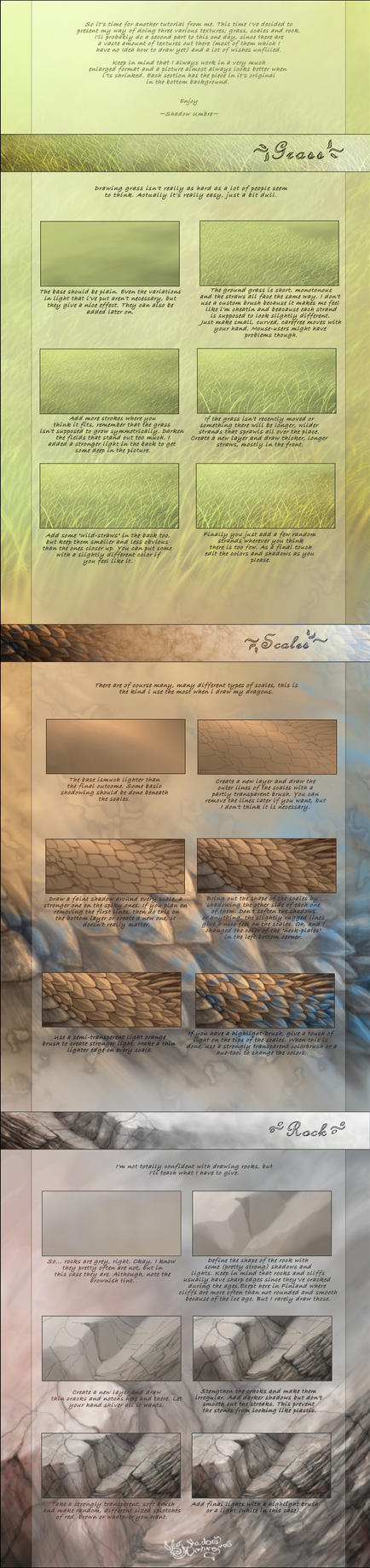 Various textures tutorial by MinnaSundberg