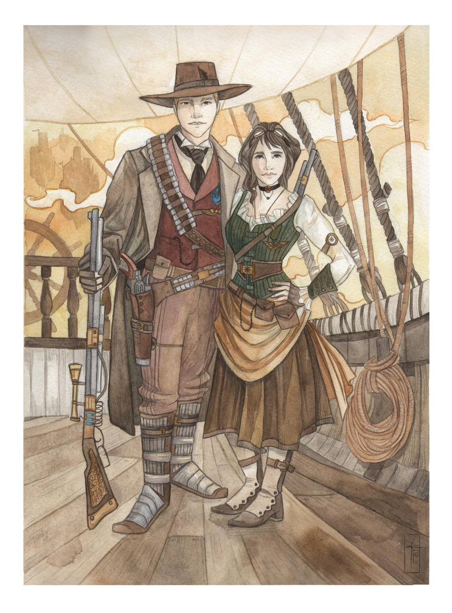 Steampunk Commission by LauraTolton