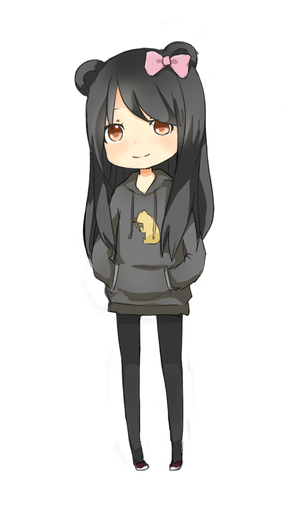 Chibi Little Girl Chibi Panda Girl by Chiyo