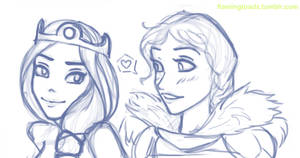 Young Elinor and Valka