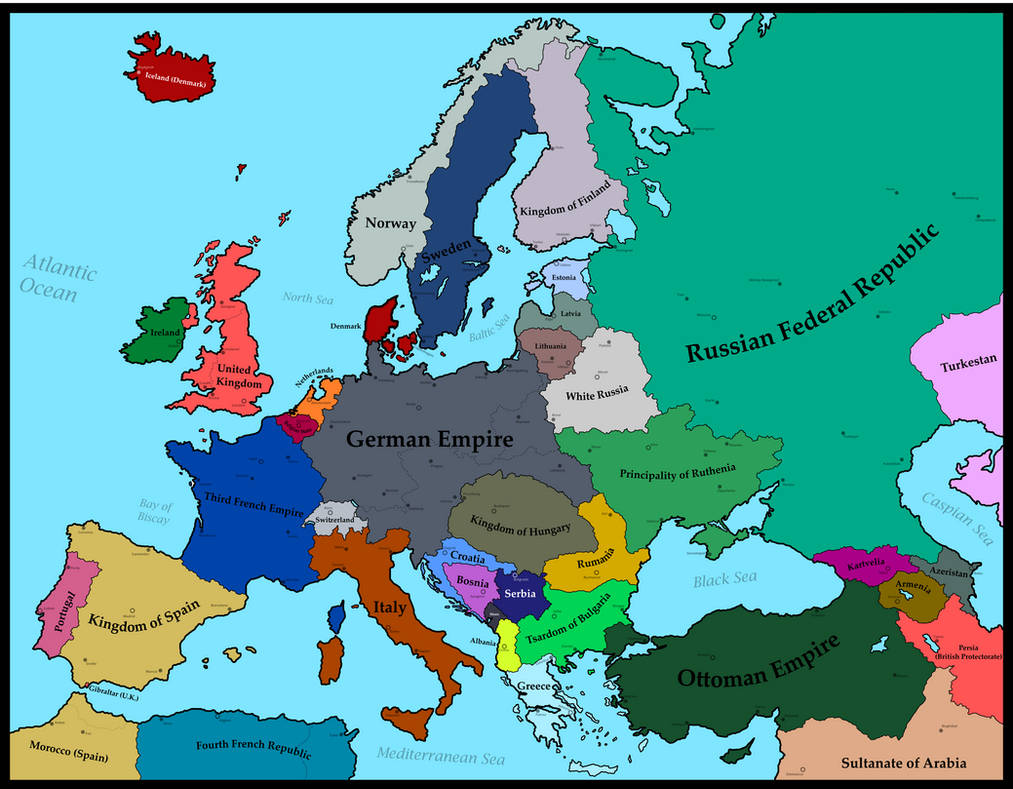 Map Of Europe 1930 World War I German Victory By Mimicthatthing