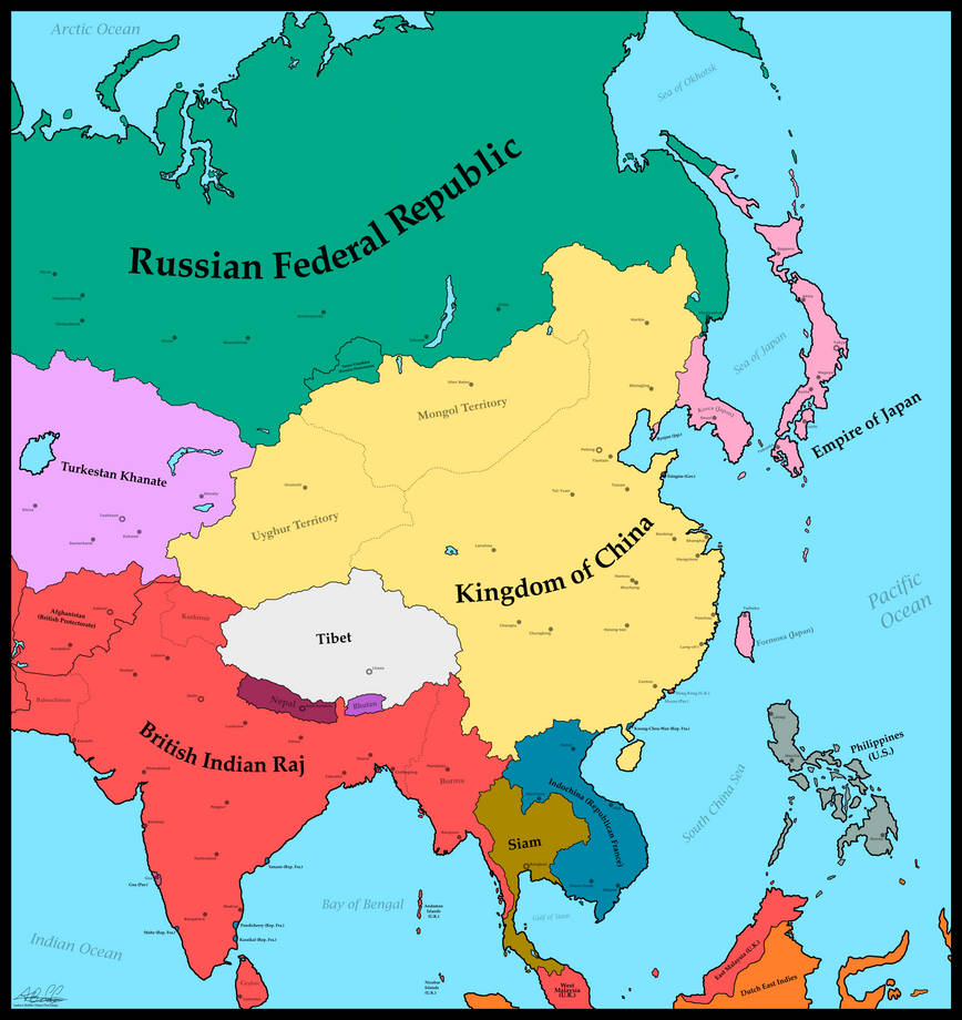 Map Of Asia 1930.Map Of Asia 1930 World War I German Victory By Mimicthatthing