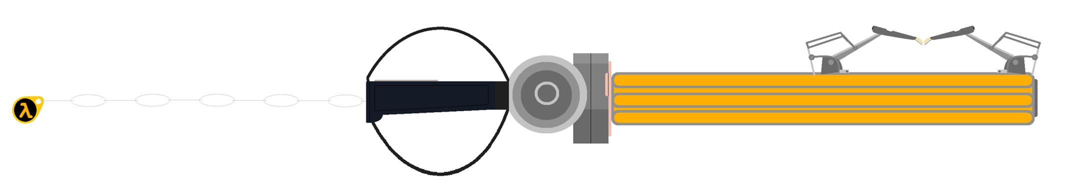 Black Mesa Gravity Keyblade by Light-He-arth