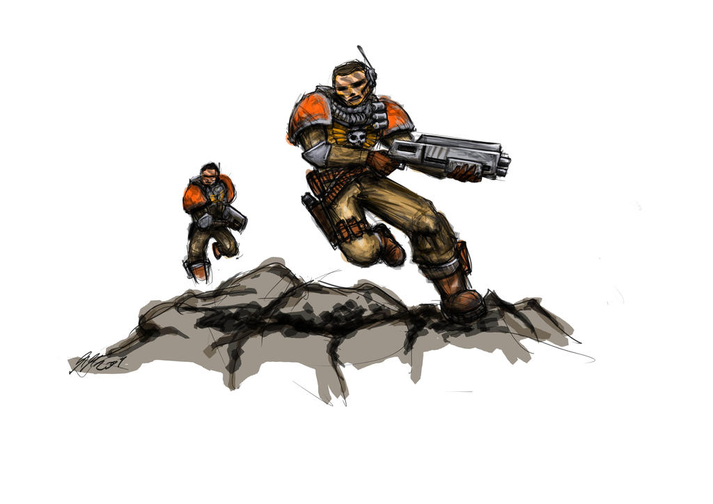 Spacemarine Scouts by maddog1138