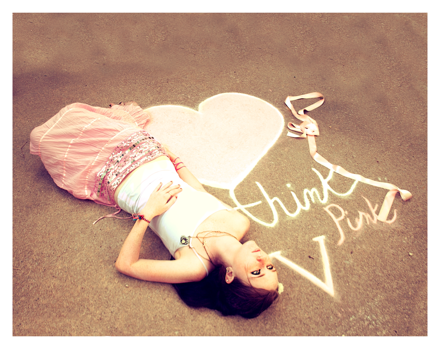 Think Pink V by XxTaintedLipsxX