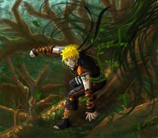 Senju Naruto: Tree Surfing by CrystallineX