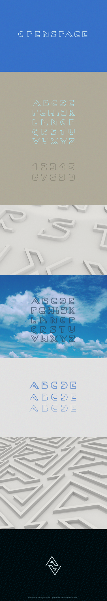 Openspace font design by gbindis