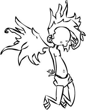 Weird Flying Boy by xib