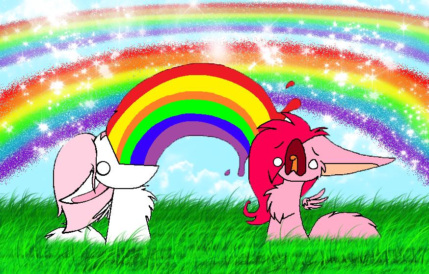 Rainbow vomit by Snowy...