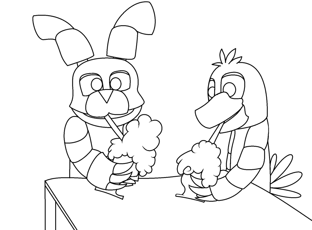 Milkshake fnaf base by snowyseal on deviantart for Fnaf 2 coloring pages
