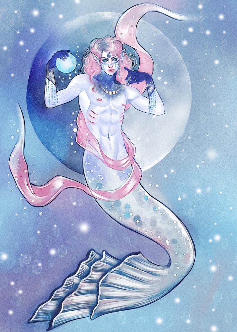 Moon merman by PreciseMoon