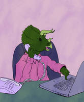Business Triceratops by Hunchdebunch