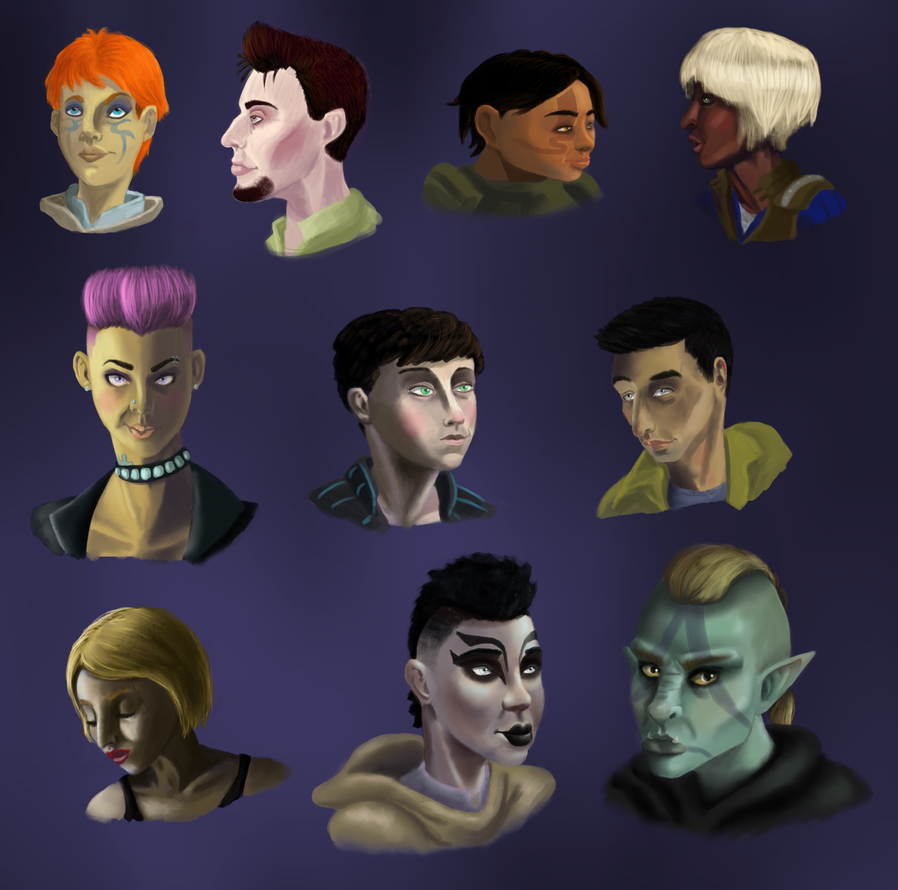 Video Game OC Portraits by Hunchdebunch