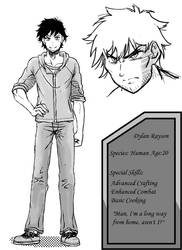 Dylan Rayson(OC): character reference sheet