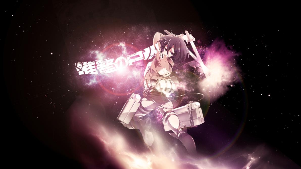Mikasa Ackerman Wallpaper by Lekijocds