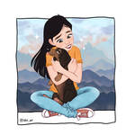 cuddle I commission by kliriart
