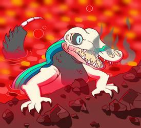 Lava Lizard by CosmicClaxon